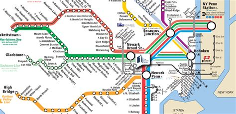 new jersey transit map nj map my