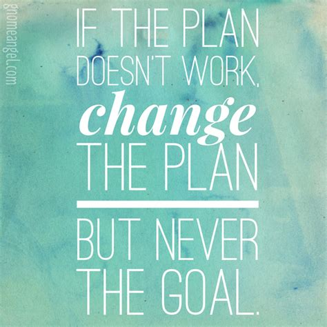 Planning And Change motivation quote quot if the plan doesn t work change the