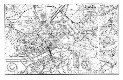 Postkarten Drucken Mannheim by Pharus Pharus Historischer Stadtplan Mannheim 1935