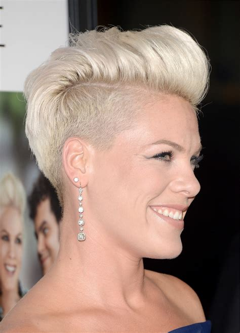 female rock singers with short hair more pics of pink fauxhawk 38 of 56 short hairstyles