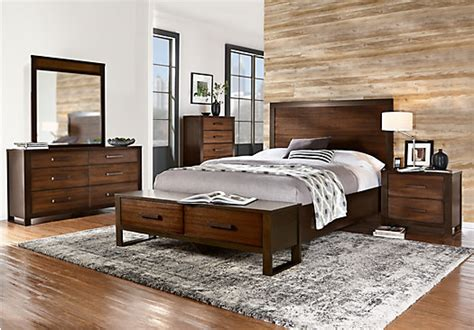 Rooms To Go King Bedroom Sets by Abbott Hazelnut 7 Pc King Panel Bedroom With Storage