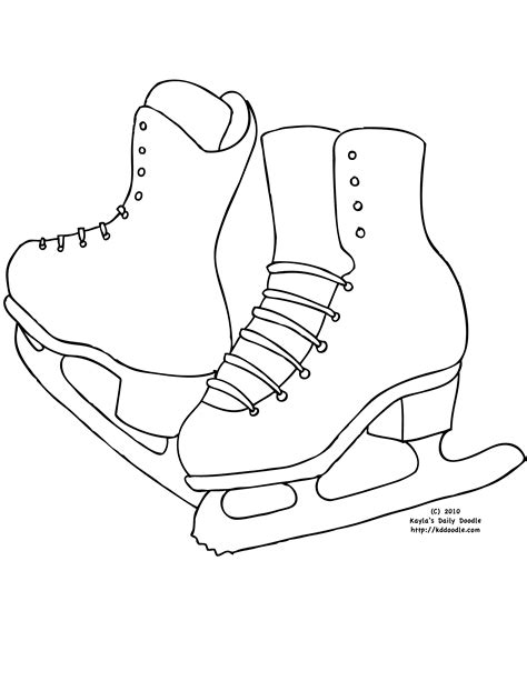 hockey skates coloring pages ice figure skates
