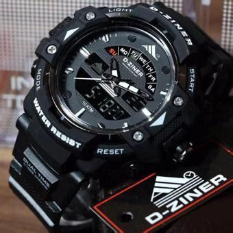 Jam Tangan Edif Dual Time 01 2 jam tangan sport d ziner dual time pria lazada indonesia