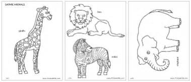 safari african savanna animals printable templates amp coloring pages firstpalette