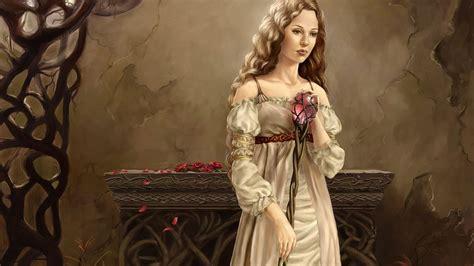 wallpaper girl dress fantasy fantasy girl white dress picture nr 60827