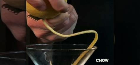How To Make Lemon Twists by How To Make The Lemon Twist As A Cocktail Garnish