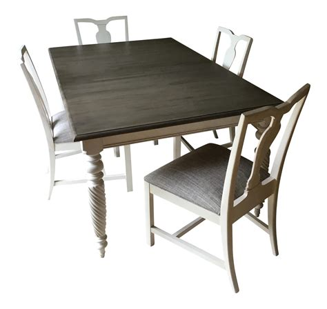 Ethan Allen Bistro Table Ethan Allen Dining Table Chairs Set Of 5 Chairish