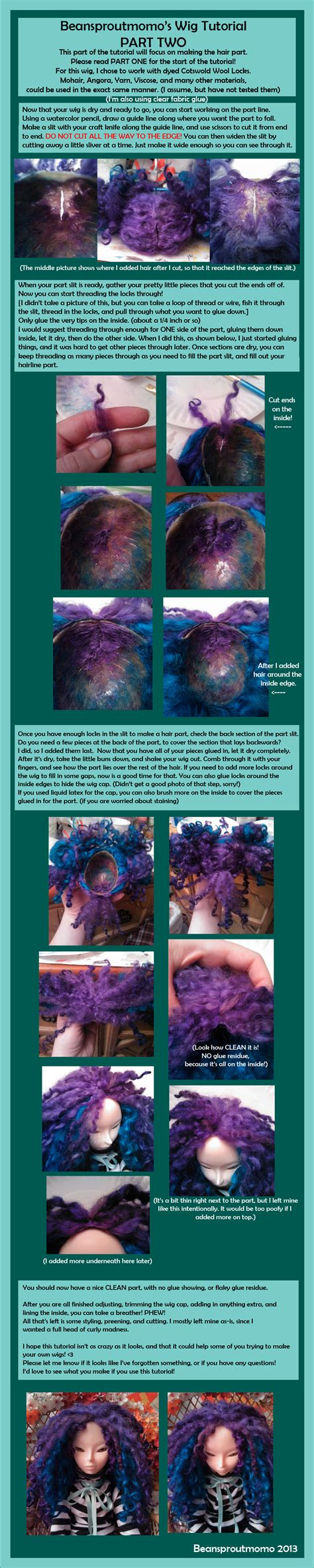 tutorial wig bjd bjd wig tutorial part two by beansproutmomo on deviantart