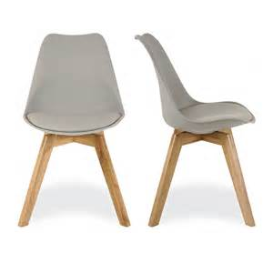 Gray Wood Dining Chairs Charles Eames Style Grey Dining Chairs With Solid Oak Crossed Wood Leg Base Charles Eames From