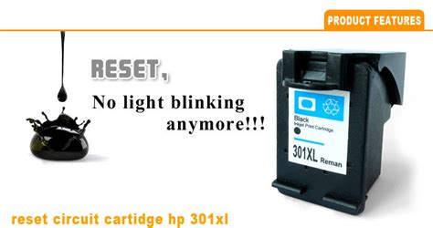 reset mp287 ink level reset chip ink level cartridge for hp 301 compatible ink