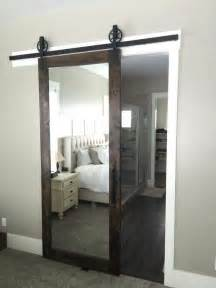 Mirrored Barn Door This Mirrored Barn Door For A Master Bedroom Home This Walk In