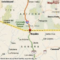 where is nogales arizona on a map nogales arizona