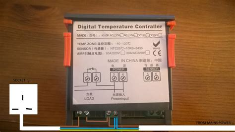 advice on wiring power supply to digital temperature