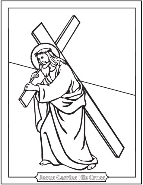 coloring pages of jesus carrying the cross free printable lent coloring pages catholic lenten