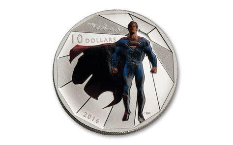 Kaos Black Silver Superman 1 2016 canada 10 dollar 1 2 oz silver superman matte proof govmint