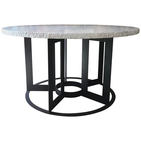 Travertine Dining Table For Sale Travertine And Iron Dining Table For Sale At 1stdibs