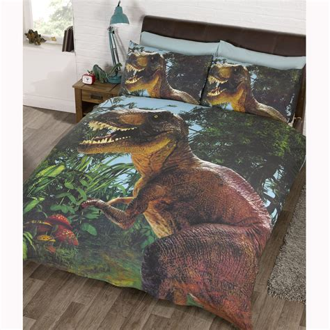 jurassic park bedding jurassic t rex dinosaur double duvet cover set exclusive