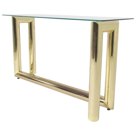 Zig Zag Console Table Mid Century Brass Zig Zag Console Or Sofa Table For Sale At 1stdibs
