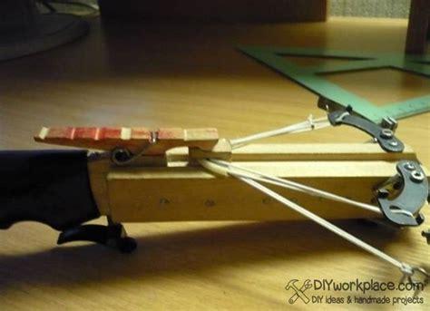 Handmade Crossbow - how to make mini crossbow