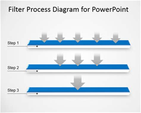 filter process diagram template powerpoint