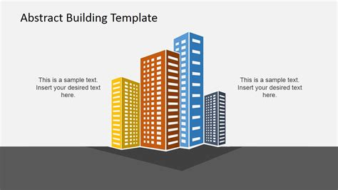 building templates abstract building powerpoint template slidemodel