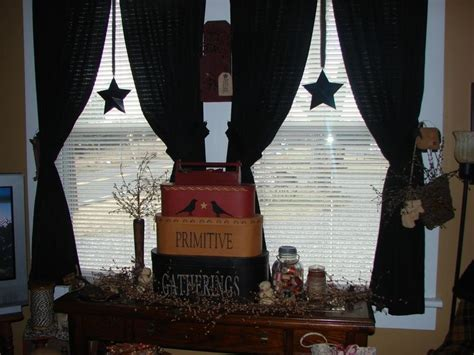 primitive curtains for living room living room primitive decor americana pinterest