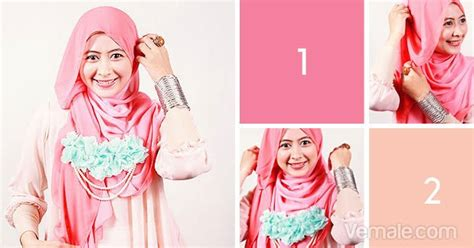 tutorial jilbab segi 4 dua warna cara pake hijab cara memakai jilbab segi empat dua warna