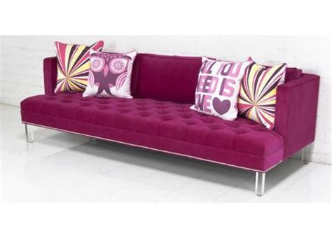 with sofa in pink velvet modshop