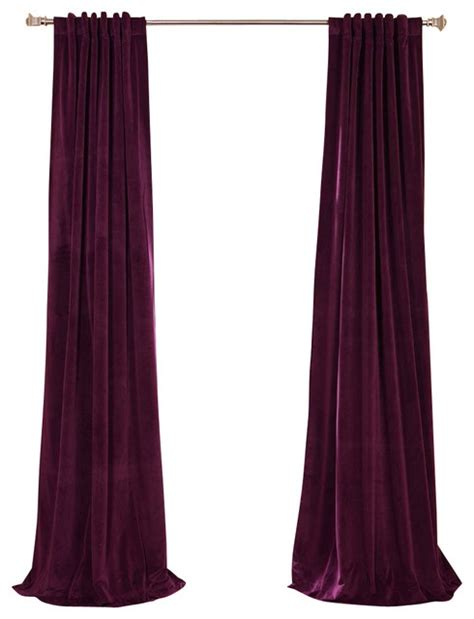 eggplant colored curtain panels signature eggplant blackout velvet curtain traditional