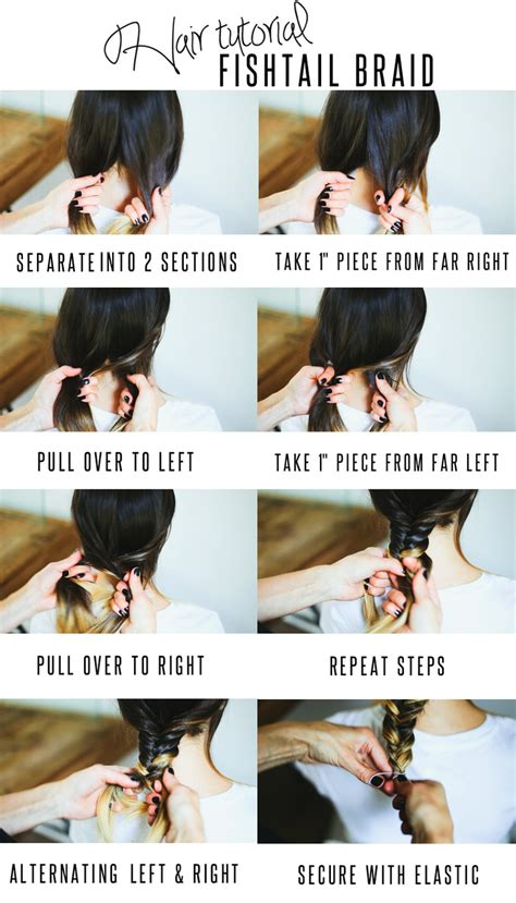 steps to show how to make fish tail favload hair tutorial fishtail braid treasures travels