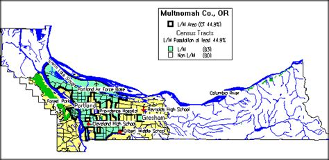 multnomah county map oregon multnomah county consolidated plan for 1995 executive summary