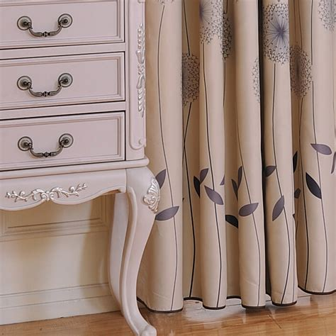 cheap shabby chic curtains discount grey leaf polyester cotton shabby chic curtains