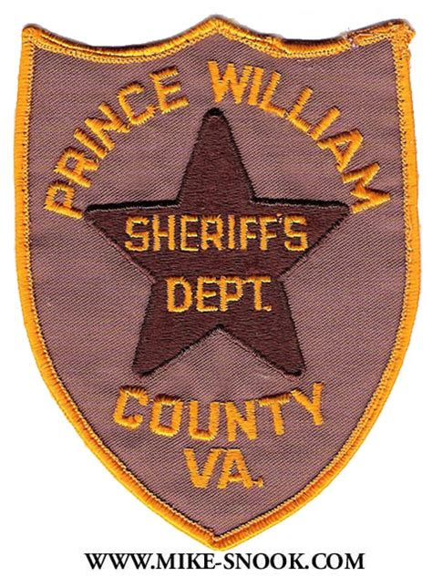 Prince William County Sheriff S Office by Mike Snook S Patch Collection State Of Virginia