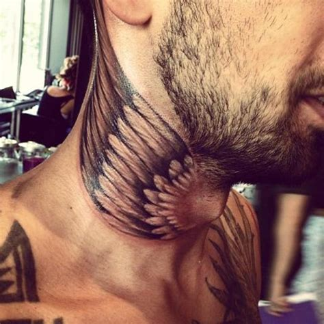 tattoo on front neck 59 wonderful wings neck tattoos