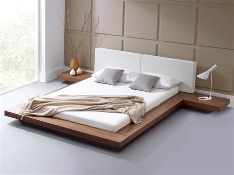 modern bedroom furniture harmonia walnut platform