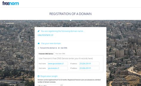register free domain for one year technical ani