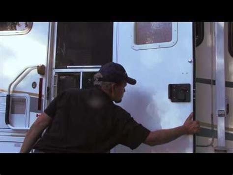 Adding Rv Style Door Latch To Enclosed Trailer - trips screen door latch and hardware on