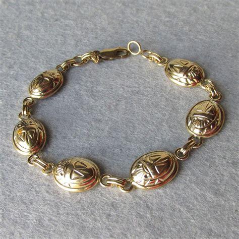 Carla Bracelet vintage signed carla 14k gold filled scarab bracelet