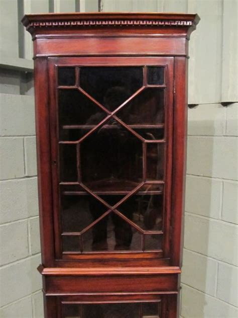 antique edwardian mahogany narrow astragal glazed