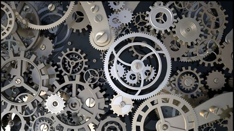 Free Online 3d Drawing background with metal cogwheels a clockwork 3d model
