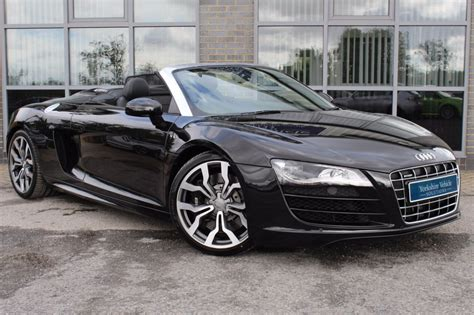 Audi R8 Black Convertible by Used Car Dealer York Vehicle Solutions
