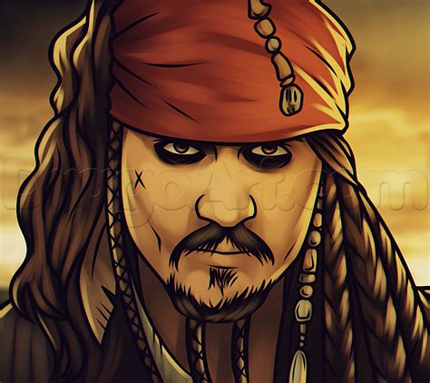 how to draw jack sparrow easy step by step characters pop culture how to draw jack sparrow easy step by step characters