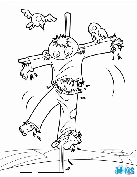 scarecrow coloring page pdf scarecrow coloring pages scarecrow in pumpkin patch