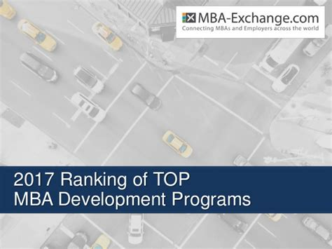 Top Ranked Mba Programs 2017 by 2017 Ranking Of Development Programs