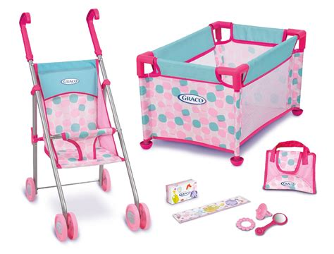 Baby Doll Stroller Crib And Highchair by Graco Doll Playset Taking Care Of The Babies In Style At