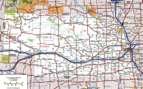usa map nebraska nebraska highway mapfree maps of us