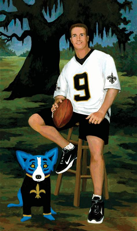 charitybuzz drew brees  george rodrigue lot