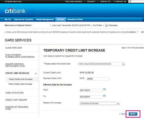 Citibank Credit Card Application Form Malaysia Increase Credit Line How To Increase Credit Card Limit