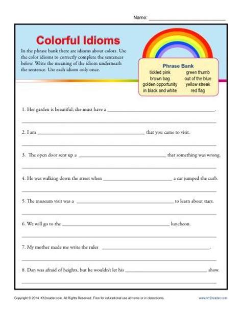 color idioms 199 best images about teaching idioms on pinterest
