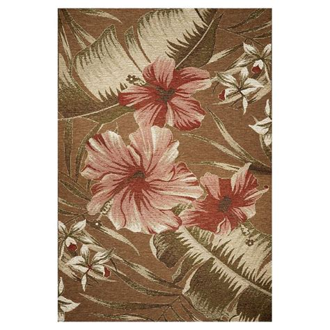 8 X 10 Outdoor Rug Shop Kas Rugs Serenity Brown Rectangular Indoor Outdoor Woven Area Rug Common 8 X 10 Actual